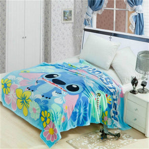 Spiderman Lilio Stitch Coral Fleece Plush Summer  Blankets on Bed/Sofa Sleeping Cover Bedding Throws Bedsheet for Kids  Boys