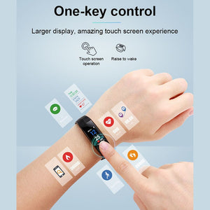 Color Screen 24 - hour Continuous Heart Rate Monitoring Waterproof Bluetooth Health Exercise Meter Step Sleep Smart Watch