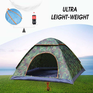 2-3 Person Waterproof Camping Tent Quick Automatic Open Outdoor Portable Shelter Hiking Fishing Travel Anti UV Sun