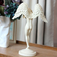 European Creative Figurines Statues Beauty Angel Sculpture Home Furnishing Decoration Crafts Arts House Mascot Resin Ornament