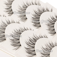 ICYCHEER Artificial 100% Mink Long Thick False Eyelashes Blue Brown Black Cross Handmade Voluminous Makeup 5 Pairs Eye Lashes