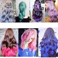 DIY hair color 13 colors Hair Dye Temporary one time hair color waterproof colorful mascara Non-toxic color hair wax AM024