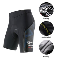Santic Men Cycling Shorts Coolmax 4D Padded Shockproof MTB Bicycle Shorts Mountain Bike Shorts Mujer Riding Bottoms K9MB086B