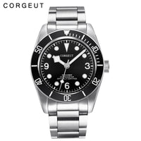 Corgeut Luxury Brand  Mechanical Watch Schwarz Bay Men Automatic Military Sport Swim