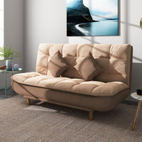 Rama Dymasty Modern Fashion Folding Washable Multifunctional Lazy Cotton & Linen Fabric Reclining Futon Chair Sofa Bed