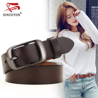 DINISITON New Women Genuine Leather Belt For Female Strap Casual All-match Ladies Adjustable Belts Designer High Quality Brand