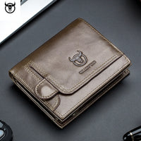men Wallet Genuine Leather Men's Purse Design male Wallets With Zipper Coin Pocket Card Holder Luxury Wallet