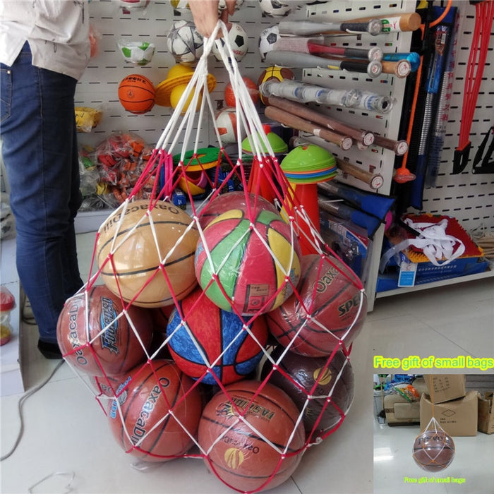 Basketball Football Large Mesh Bag 15ball Sacks Carry Net Bag Soccer Volleyball Goal Ball Training