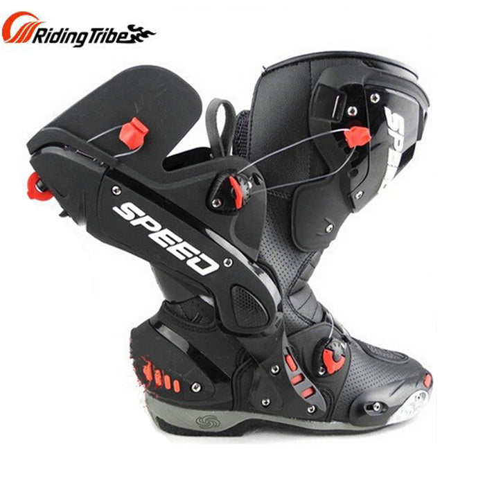 PRO-biker Upgrade Men's Motorcycle protective Boots SPEED Microfiber leather Racing Boots