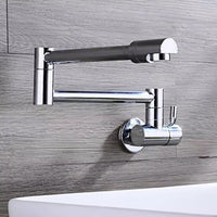 LIUYUE Cold Only Water Kitchen Faucet Brass Chrome Finish Basin Sink Faucet Single Handle Single Hole Water Tap Mixer