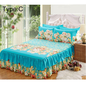 New150x200cm Sanding Bedspread Queen Bed Cover Thickened Fitted Sheet Single Double Bed Dust Ruffle