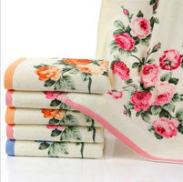 34*74 cm cotton printed face towel Bathroom Flower Bath Towel