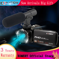 KOMERY New Arrivals Video Camera Camcorder 3.0 inch IPS HD Touch Screen Real 1080P Original Digital Cameras and Video Recorder