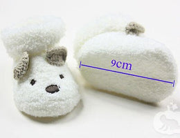 Warm Newborn Socks Unisex Baby Boy Girls Infant Cute Bear Crib Warm Shoes dfs