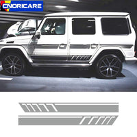 Auto Body Side Skirt Stripes Sport Styling Vinyl Decal For Mercedes-Benz G class W63 G500 G53 Creative Car Door Stickers