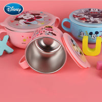Disney baby 7pcs cutlery set stainless steel shatter-resistant food supplement bowl fork spoon children cute cartoon tableware