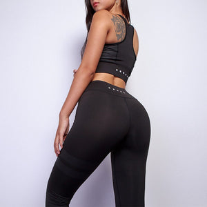 Girls Tracksuit TWO PIECE SET Tank Top Vest Outfit Run Fitness Sportsuit Women Clothing Sporty Track Suit Workout Sporting Gym