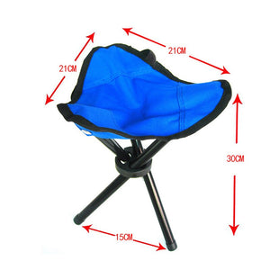 Outdoor Fishing Chair Portable Tripod Stool Folding Chair Camping Walking Picnic Garden Foldable Three Feet Beach Chair Small