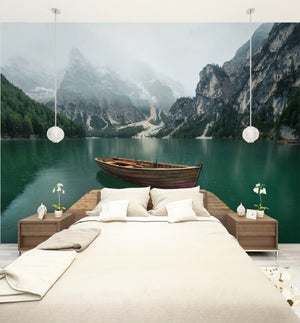 Custom Size 3D Photo Mural Wall Sticker Nature Mountain Removable Wall Papers Self-adhesive Vinyl Art Home Decor