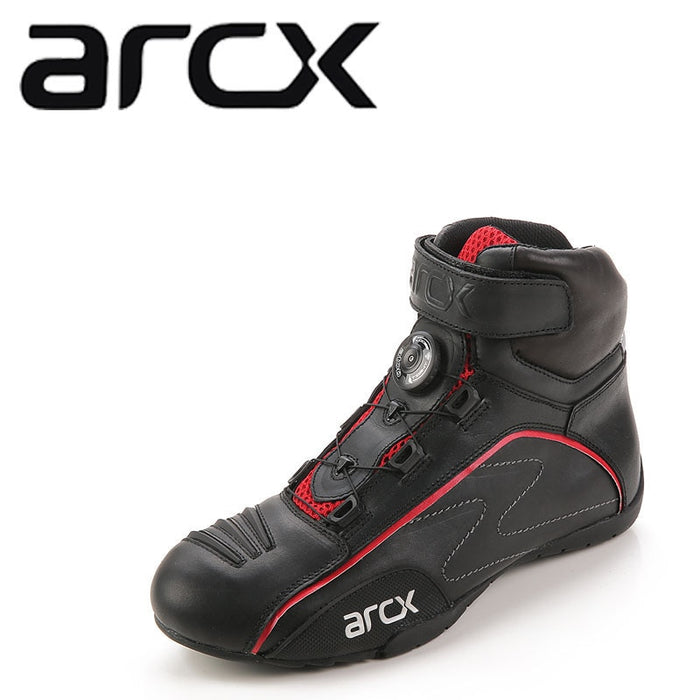 ARCX Racing Moto Shoes Motorcycle Boots Rotating Buckle Breathable Summer Street