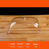 Highly Transparent Acrylic Food Cover PC Snack Display Cover Food Cube Top Quality Transparent