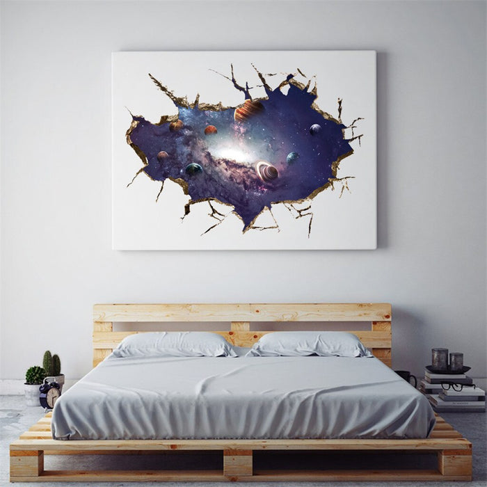 3D Art Wall Stickers Starry universe wall sticker home decoration accessories bathroom wall stickers