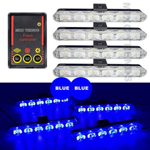 1Set DC 12V Car Truck Light 4X6 Led Flashing Firemen Lights Car-Styling