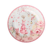 British Pastoral Bone China Plates Dinner Plate Steak Ceramic Tray Cake Dishes Pastry Fruit Dish