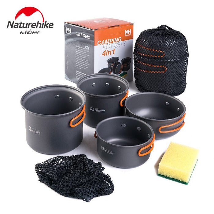 Naturehike Cooking Picnic Set New 2-3 Persons Outdoor Pot Sets Camping Cookware Portable