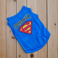 New arrival cheap polyester dog clothes puppy Pet clothing Superman summer dog