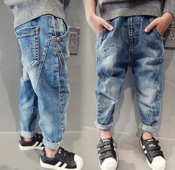 Children's Clothing Boys Pants Fashion Boys Jeans Spring Autumn Kids Casual jeans 5 7 9 11 13 14