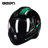 Beon Motorcycle Cool Dual 180 Degrees Flip up Helmet Winter Moto Personality ATV Motocrosselmets