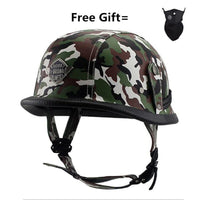 Unisex half face Motorcycle Helmets German retro vintage Helmet Chopper Cruiser Biker Helmets bicycle casque moto