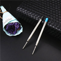 5PCS or 1PCS metal roller pen refills 0.7mm black and blue good quality ballpoint pen refill