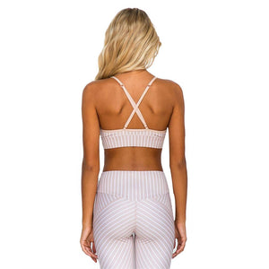 Women Yoga Set Female Sport Suit Fitness Sexy Sportswear Workout Gym Wear Running Clothes Striped Ruffled Tank Top & Leggings