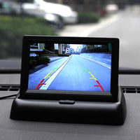 4.3'' LCD Foldable 2 Video Input Car Monitor for Parking Sensor Universal Car Video Players Car Rear View Camera Monitor