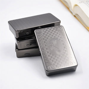 Silver Tobacco Box Humidor Storage For Rolling Machine Container Cigarette Case Holder Smoking Accessories 2pcs/lot  H112