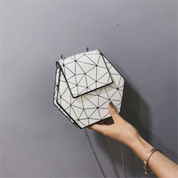 2019 New Bao Crossbody Bags For Women Fashion Mini Beach Bag Geometric Chain Bag For Women Girl Shoulder Bag bolsos mujer silver
