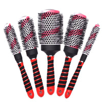 Professional 5 Piece Set Hair Ionic Barrel Brush Hair Round Curling Brush In High Quality Ceramic Hairbrush For Hairdressing