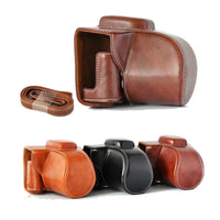 High Qaulity PU Leather Camera Case Full Bag For Fujifilm XT100 Fujifilm x-t100  Camera Bag Cover With Strap 3 color
