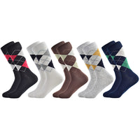 new socks hot casual men's socks autumn and four seasons plaid compression retro business banquet dress cotton socks men
