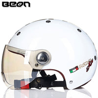 BEON Motorcycle Half Face Helmet Vintage Capacete motocross Casco moto electric bicycle safety 103