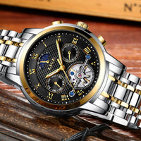 2019 LIGE Men's Watch Brand Luxury Automatic Auto Date Clock Men Full Steel Business Waterproof Sport Watches Relogio Masculino