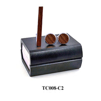 Wood Cufflinks Tie Clips gift Box Combo Set Cuff Links For Mens Relojes Gemelos Men