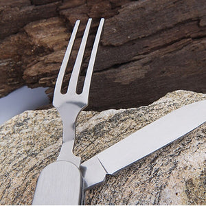 Multifunction Detachable Folding Cutlery Camping Tableware Stainless Steel Spoon/Fork/Knife/Bottle Opener Outdoor Flatware Tools