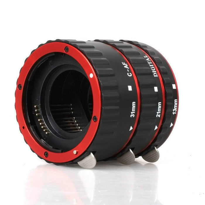 macro ring Red Aluminum Alloy Electronic AF TTL Auto Focus Macro Extension Ring Tube