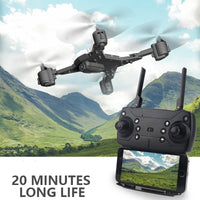 New 640P/1080P Drone Camera HD RC Helicopter WIFI FPV Selfie Drone Professional Foldable Quadcopter 20 Minutes Battery Life