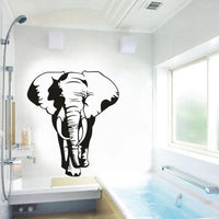 3D Creative African Elephant Wall Sticker Animal Wall Posters Room Accessories Home Decor
