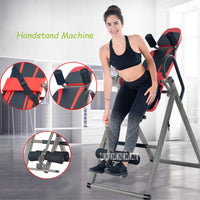 V320 Handstand Machine Multifunctional Inversion Therapy Table Upside Down Device Fitness Equipment Back Stretcher Machine