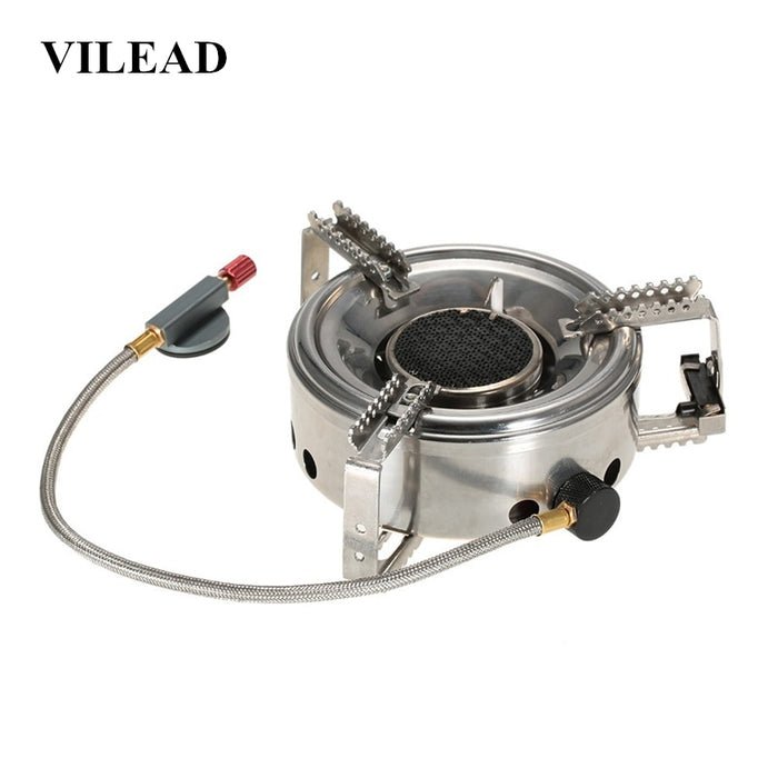 VILEAD 180x50 MM Split Infrared Strong Fire Outdoor Gas Burner Windproof Stove Portable